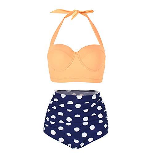 Bikini Lady Bandage Swimsuit Sexy Sling hoge taille geribbelde bikiniset Tweedelig badpak Beachwear Bikini,H,M