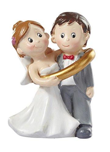 Hochzeitspaar * Brautpaar im Ring * Tortendekoration * Tortenfigur * Tischdekoration