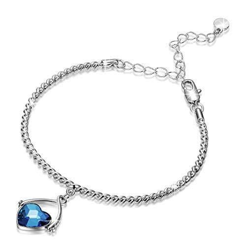 Pulsera de cristal con colgante, diseño de columpio de amor con extensor, el mejor regalo para mujeres y niñas, color: pulsera para mujer