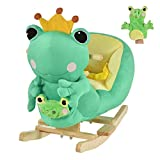 Product Image of the Qaba Kids Ride-On Rocking Horse Toy Frog Style Rocker with Fun Music & Soft...