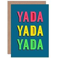 Yada Yada Yada Bright Word Art Sealed Greeting Card Plus Envelope Blank inside 明るい