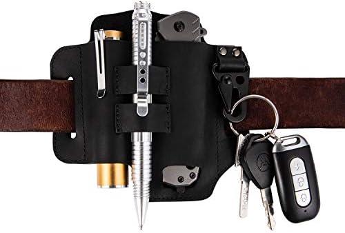 Keypster EDC Leather Sheath for Leatherman multitools Key holder belt loops leather sheath for product image