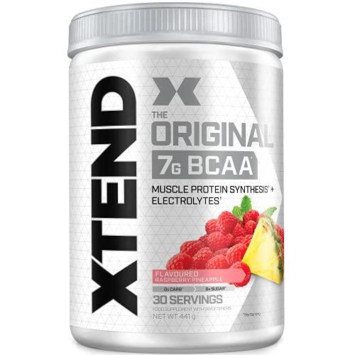 XTEND Original - Suplemento de BCAA en polvo - piña frambuesa | Aminoácidos de cadena ramificada | 7 g de BCAA con electrolitos para una mayor hidratación y recuperación | 30 raciones