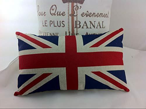 Hannah66Wind Engeland vlag jute Kussensloop case12x20 langwerpige Kussensloop Decor ative jute Kussensloop Kussensloop Cover voor bank vakbond jack lumbale Kussensloop