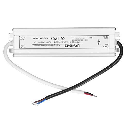 Transformador LED, protección automática Controlador LED IP67 Fuente de alimentación Adaptador de transformador Controlador LED eléctrico para proyectos informáticos para bombillas LED
