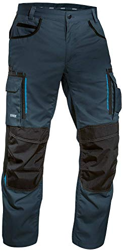 Price comparison product image Uvex Tune-Up Mens Long Working Pants - Cargo Safety Trousers Heavy Duty Workwear Pants - Navy Blue - Size 50