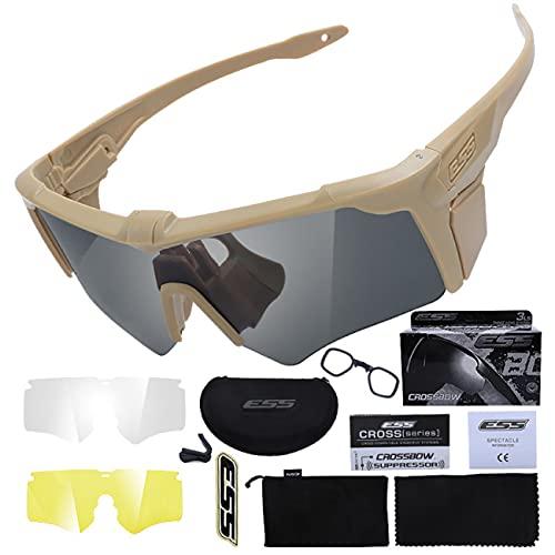 Tramile Los fanáticos militares al aire libre deportes gafas cruzadas tácticas, disparar gafas a prueba de balas, gafas de sol tácticas de los hombres, gafas de sol al aire libre, color de barro
