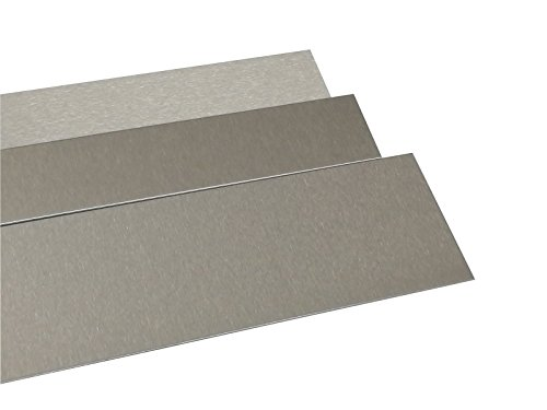 Blechstreifen Edelstahl V2A geschliffen 2 Meter lang 0,8 mm stark (100 mm)