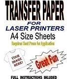 Laser y Copiador Imprimible Camiseta y Tela Papel Transfer para Luz Telas 10 A4 Hojas