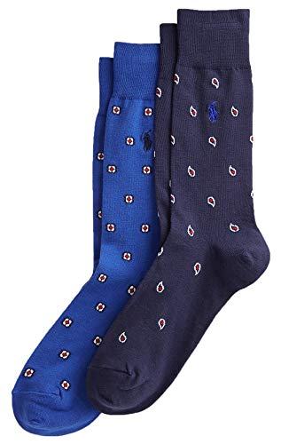 Polo Ralph Lauren Men's Paisley und Medallion Sock 2-Pack (Royal)