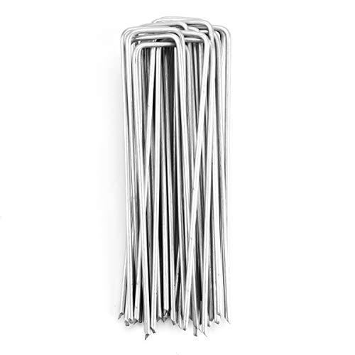 Sekey 15cm u-förmigen Mehrzweck-Gartensicherungsnägeln aus Schwarzem Stahldraht Ideal zum Sichern von Unkrau Landschafts und Vliesstoffen 150x25mm Ø2.7mm 25Stück