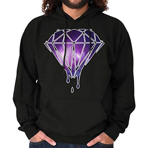 Universe Galaxy in Melting Diamond Hoodie Sweatshirt Women Men Black
