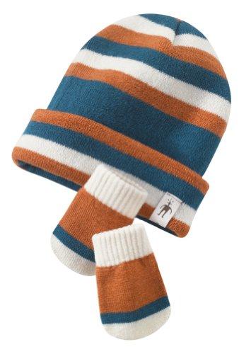 Smart Wool Wintersport Stripe Set Petrol Blue 12 Monate