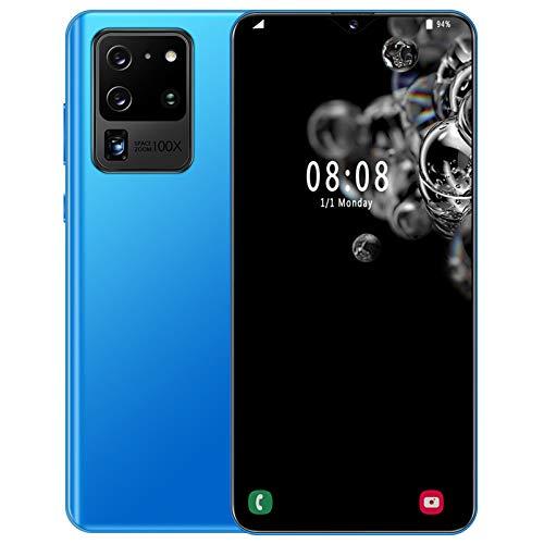 LHDQ Teléfono móvil Gratis, Android 10.4G Smartphones Dual-SIM, 6 GB RAM + 128 GB ROM 512 GB Extensión, Dropscape de rocío de 7.0 Pulgadas, Dos Ranuras para Tarjeta, Dos cámaras,Azul