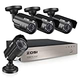 ZOSI 8-Channel HD-TVI 1080N/720P Video Security System DVR recorder with 4x HD 1280TVL...