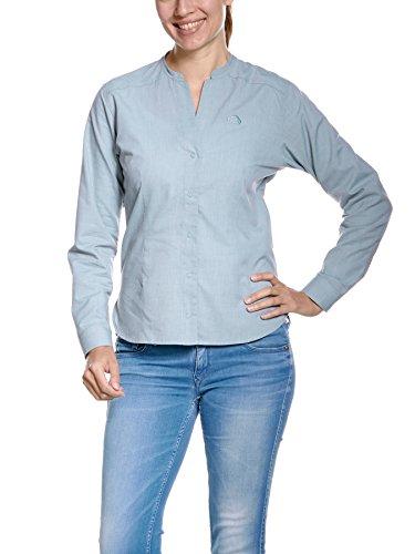 Tatonka Eldred W S LS T-Shirt Blouse, Washed Blue, 38