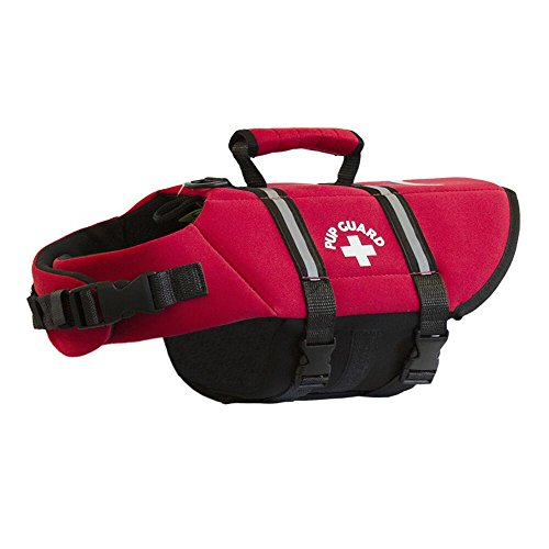 Travelin K9 Premium Red Neoprene Dog Life Jacket, Reflective, Bouyant (Small 20-24' Chest)