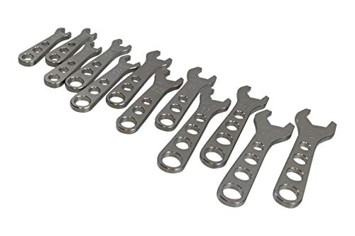 ICT Billet 12pc Billet Aluminum AN Fitting Wrench Complete Set 2-12AN Wrenches 551471 Fittings Thread Lightweight Ergonomic Compact Handle Designed & Manufactured in the USA 551471
