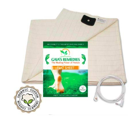 Earthing Grounding FULL Size (60 x 88) Flat Sheet - 95% Organic Cotton, 5%...
