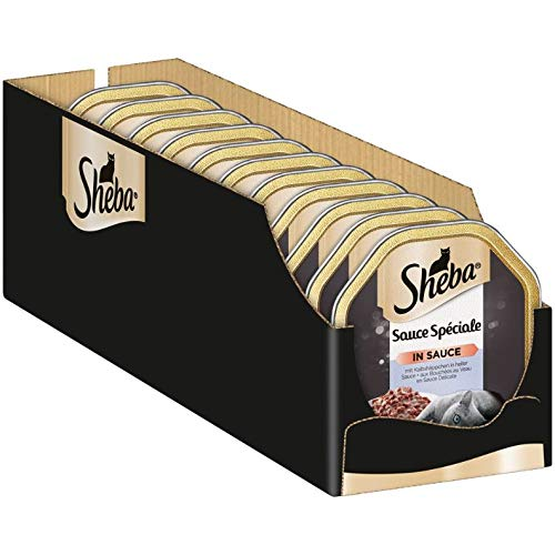 Sheba Sauce Spéciale – Edle Nassfutter-Kreationen für ausgewachsene Katzen – Alleinfuttermittel in der Schale