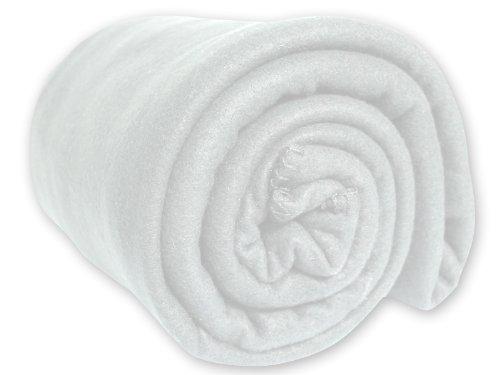 Manta Polar Lisa Blanca 180x220 cm