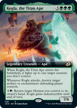 Magic: The Gathering - Kogla, The Titan Ape - Foil - Extended Art - Ikoria: Lair of Behemoths