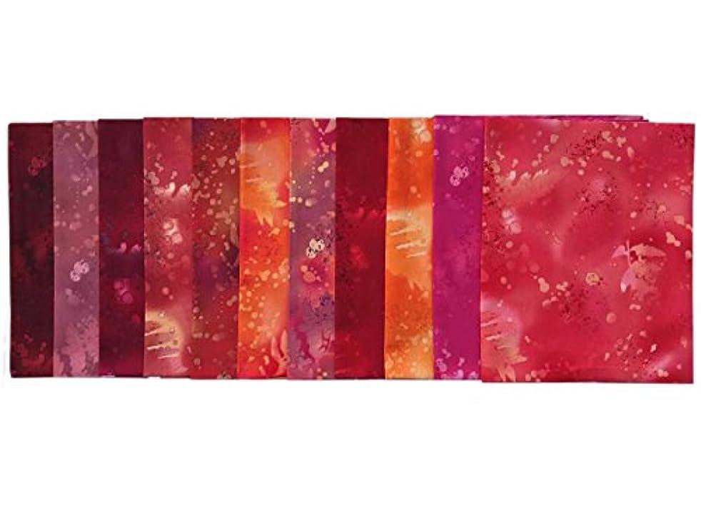 Fossil Fern Reds 11 pc Cotton Fabric Quilting FQs Assortment by Benartex Studio