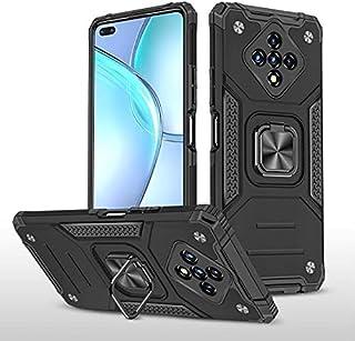 الهاتف - جراب صلب لهاتف Infinix Zero 8 8i Hot 9 10 play Note 7 Lite + حامل من الزجاج المقوى للسيارة ذو حلقة واقية ذكية 4 ك...
