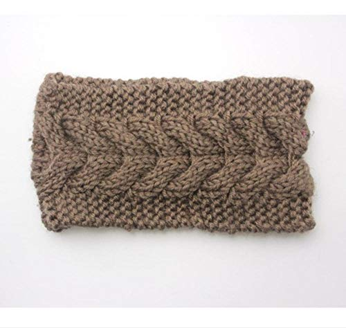 Hlnaughty Winter Warm Effen Breien Hoofdbanden Voor Vrouwen Dame Wol Gehaakte Haarband Hoofddeksels Brede Bandana Turban Accessoires