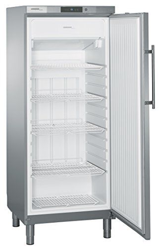 Liebherr GGv 5060 Independiente Vertical 337L Acero inoxidable - Congelador (Vertical, 337 L, SN-T, Sistema de descongelado, Acero inoxidable)