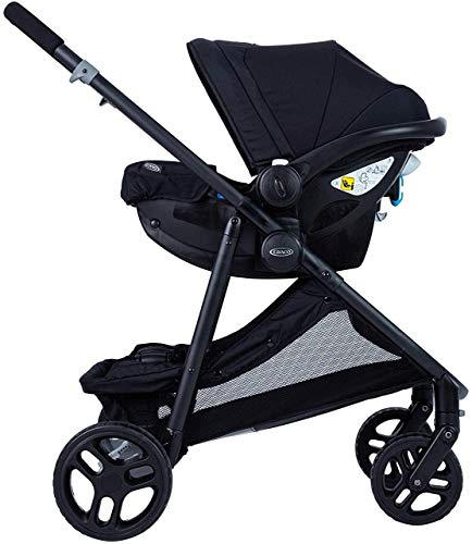Graco Time2Grow i-Size Travel System (Pushchair & Car Seat, Birth to 3 Years Approx, 0-15kg) with Raincover, Denim Graco Suitable from birth to approx. 3 years (0-15kg) Travel System package with SnugEssentials i-Size infant car seat included Carrycot compatible as a stand-alone or using the main/toddler seat in the rear (suitable from birth up to 9kg) 4