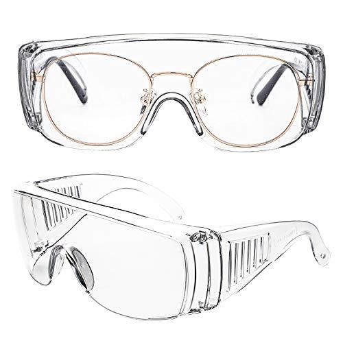 保護メガネ 安全メガネ 花粉 メガネ 軽量 防曇 ゴーグル 防風 防塵 花粉症 作業用ゴーグル 眼鏡着用可 男女兼用