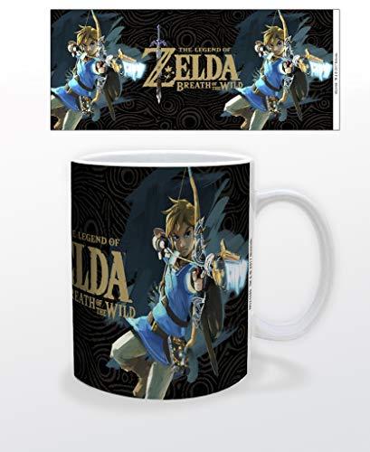Legend of Zelda Breath of The Wild Link Bow Video Game Gamer Ceramic Coffee Mug Tea Cup Fun Novelty Gift 12 oz