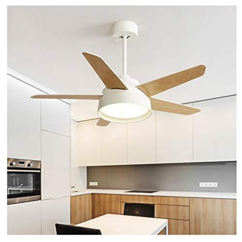 MYBA Ventilador de techo moderno de Stumm con luz LED y mando a distancia de 100 cm, para dormitorio, salón, habitación infantil, ventilador de techo (color: blanco, tamaño: 42 pulgadas)