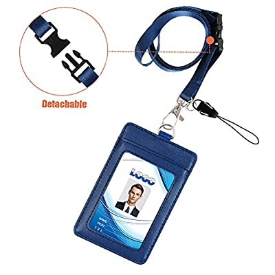 Badge Holder, Life-Mate Double Sided Thicker PU...