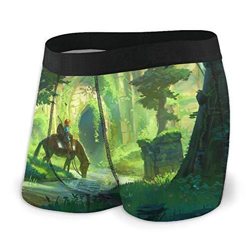 Herren Baumwolle Boxershorts Shorts Trunks Legend Zelda Herren Boxershorts S-XXL Print Unterhosen Design Superweich Bequem und atmungsaktiv und elastisch schwarz