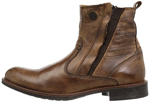 Steve Madden Men's Patten Engineer Boot, Tan Leather, 11 US/US Size Conversion M US