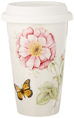 Lenox Butterfly Meadow Thermal Travel Mug, 12-Ounce by Lenox