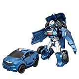 Transforming Toys Coche – 2 en 1 – Desformación, robot de coche, juguete inercia para vehículos de construcción, camiones, juguetes para niños a partir de 3 años