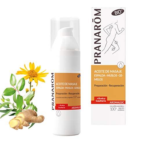 Pranarom - Aromalgic - Aceite de Masaje Espalda, Musclos y Gemelos - Preparación y Recuperación (Bio) - 100 ml
