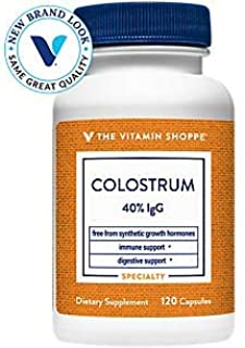 Colostrum 40 IGG Supports Immune Health, Hormone Antibiotic Free, Once Daily (120 Capsules) by The Vitamin Shoppe