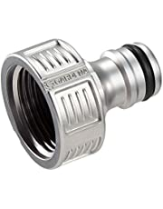 """GARDENA Premium kraanaansluiting 26,5 mm (G 3/4""""): Adapter voor waterkranen, hoogwaardig metaal, spatvrije waterstroom, vorstbestendig, verpakt (18241-20)"""