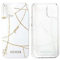 エアージェイ GUESS 公式ライセンス品 iPhone12mini (5.4インチ,ホワイト) 背面ケース チェーン柄 デザイン バックカバー ハードケース レディース おしゃれ ブランド 5.4インチ [アイフォン12ミニ, ホワイトWH] GUHCP12SPCUCHWH