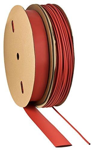 Schrumpfschlauch 2:1 rot Auswahl aus 10 Größen und 6 Längen Meterware von ISO-PROFI® (hier: Ø10mm - 2 Meter)
