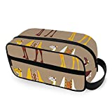 Camel African Animal in Desert Travel Toiletries with Zippers Travel Toiletries Carry-on Travel Accessories Toiletries Bag for Men and Women Travel Bag for Toiletries Accessories