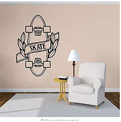 Muursticker Skateboard Vinyl Jeugd Aanbieding Schaatsen Sport Vinyl Muurstickers Home Decoratie Skateboard Ontwerp Afneembare Muur Muren Ay1381 42X60Cm
