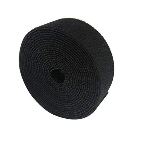 Binghotfire Correa Plástico Nylon Organizador de Cables Enrollador Clip de Cables Cintas Negro 2cm x 2m