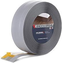 HOLZBRINK zelfklevende zachte plint, lichtgrijs PVC lamel, 50x20mm, 15 m