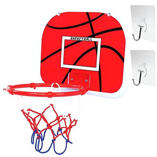 Demeras Mini Juego de Placas de Baloncesto Ajustable Baloncesto para niños Que cultivan la Actividad del Grupo de interés(Non-Marking Sticking Hook)