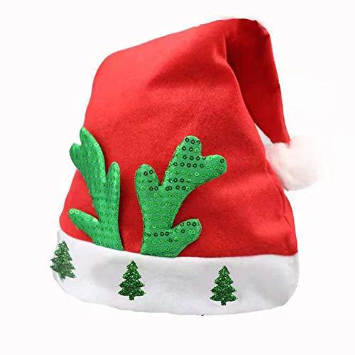 Buonissimo Cappello Natale Cappello da Babbo Santa Classico Christmas Decorazione Regalo per Natale Party Festa (1PZ)